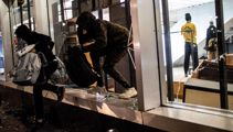 Stunning footage shows swarms of armed looters in New York