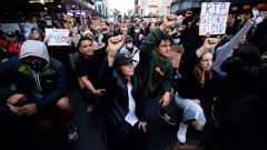 Thousands turned out to the Black Lives Matter protest in downtown Auckland on Monday. Photo / Dean Purcell