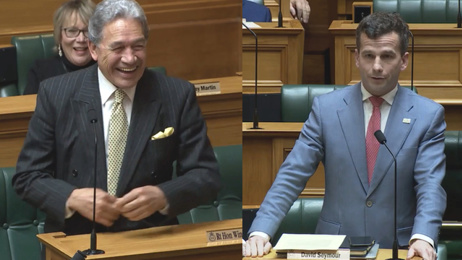 Act leader David Seymour kicked out after Winston Peters 'grandpa' jab