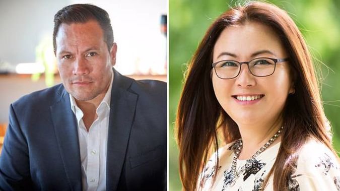 Tamati Coffey and Melissa Lee traded barbs in an exchange that was caught on audio today. (Photo / Supplied)