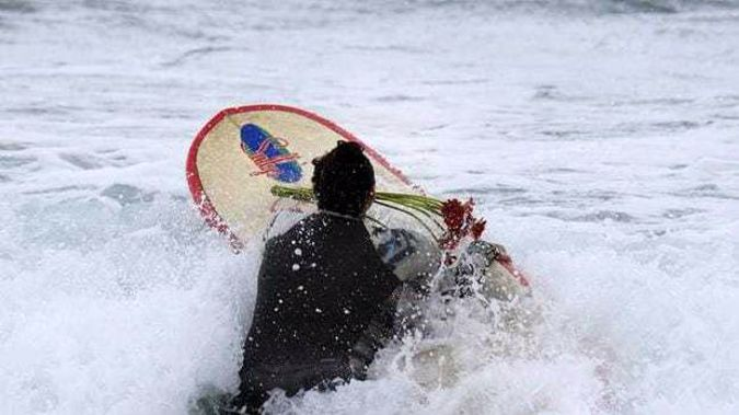 The man was surfing this morning when he was bitten by a shark in an attack that proved deadly. (Photo / AP)