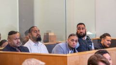 The sports star has been linked by the Crown to the drug syndicate of Tevita Fangupo (left), Toni Finau and Tevita Kulu, and Halane Ikiua (far right). Photo / Peter Meecham