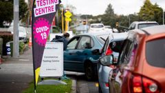 Patients are screened at the St Lukes community testing centre this morning in Mt Albert, Auckland. Photo / Dean Purcell