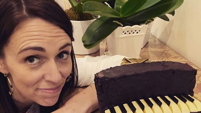"""Jacinda Ardern has revealed the secret to the cake's """"structural stability"""" issues. Photo / Instagram"""