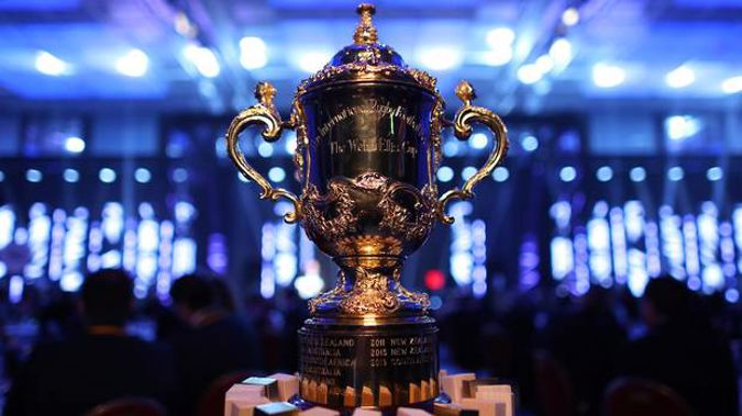 The Webb Ellis Cup. (Photo / Photosport)
