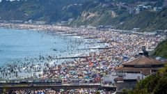 UK beaches were crowded despite the threat of Covid-19. (Photo / CNN)