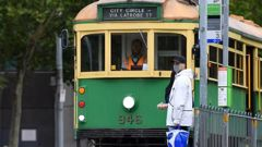Melbourne is facing a return to strict lockdown measures. (Photo / AAP)