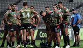 Warriors players look dejected after another Storm try. (Photo / Getty)