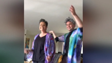 Paula Bennett joins Tom Sainsbury for retirement dance
