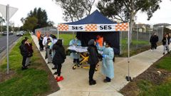 Coronavirus pop-up testing facilities have been setup in residential streets throughout area's considered coronavirus hotspots following a spike in cases.