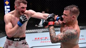 Dan Hooker and Dustin Poirier fought in the main event at the UFC Apex on Sunday (NZ time). Photo / Getty Images