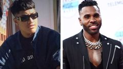 Jawsh 685 collaborated with Jason Derulo after he created a viral TikTok beat. (Photos / Supplied / Getty)