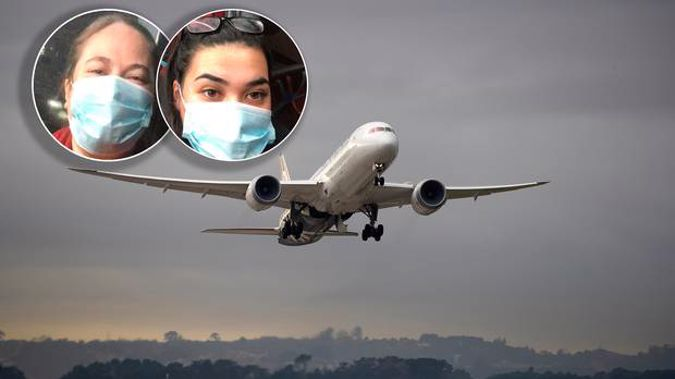 Desiraye Solomon and daughter Délia Brown were among those taken off an Air New Zealand flight in Auckland and taken to be quarantined.