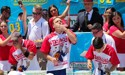 Hot dog eating record set during 4th of July celebrations
