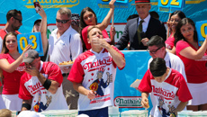 Andrew Alderson: Hot dog eating record set during 4th of July celebrations