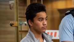 Haami Hanara at age 14 during his trial for the murder of Kelly Donner in the High Court at Napier in 2018. Photo / Pool