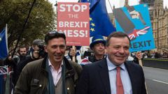 The 'bad boys of Brexit', Arron Banks and Andy Wigmore. Photo / Getty