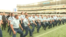 Watch: Moving haka for slain police officer Constable Matthew Hunt at Eden Park