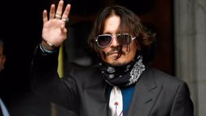 Depp is in court to defend himself against a newspaper article labelling him a 'wife beater'. (Photo / AP)