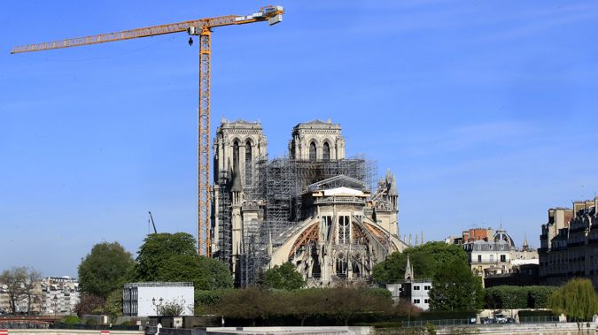 The Notre Dame is being rebuilt after a fire last year. (Photo / AP)