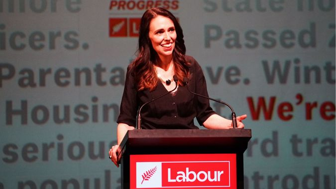 Jacinda Ardern at a Labour Party conference. (Photo / NZ Herald)