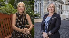 Nikki Kaye and Amy Adams are both retiring from politics as National Party heads into election with Judith Collins in charge. Photo / Mark Mitchell