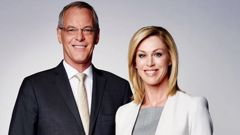 Simon Dallow and Wendy Petrie. Photo / TVNZ