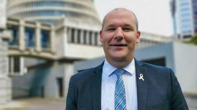National MP Andrew Falloon at Parliament, Wellington. (Photo / Jason Walls)