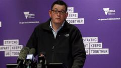 Victorian Premier Daniel Andrews speaks to the media during a daily briefing. Photo / Getty Images