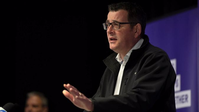 Victorian Premier Daniel Andrews speaks to the media during a press conference in Melbourne. (Photo / AP)