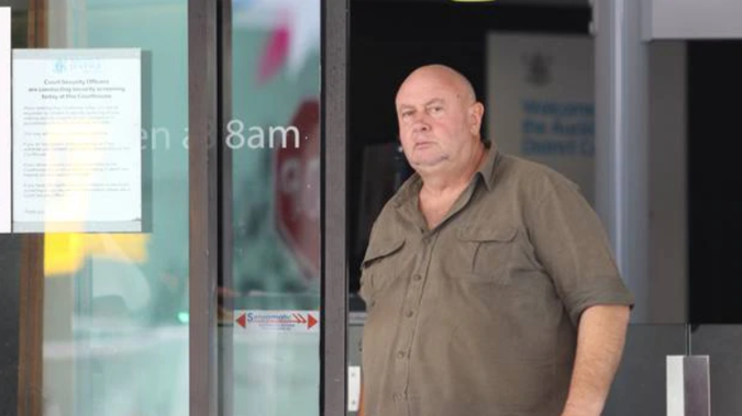 Serial fraudster Richard Mark Wallace leaving the Auckland District Court in February 2019. (Photo / Sam Hurley)