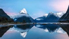 Mitre peak and the mountains of Milford Sound. Fiordland is facing up to 40 per cent unemployment. Photo / Getty Images