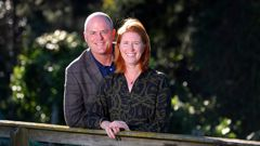 National Party MP Todd Muller and his wife Michelle at home in Tauranga earlier this year. (Photo / Alan Gibson)