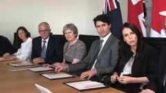 Current and former leaders of the Five Eyes nations. (Photo / File)