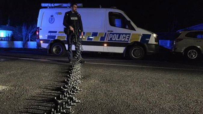 A Waikato police officer was injured after being hit by a vehicle. It's understood he was laying road spikes at the time. Photo / File