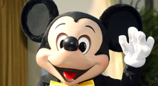 US state issued tax refund checks signed by Mickey Mouse