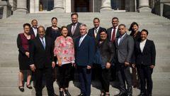 Labour's Māori caucus. (Photo / NZ Herald)