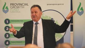 On Tuesday Shane Jones released figures about jobs linked to the Provincial Growth Fund which were questioned by economists and the Opposition. (Photo / Peter de Graaf)