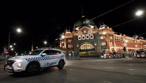 Victorian Police began patrols last night in Melbourne. Photo / Getty