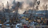 Smoke rises in the aftermath of a massive explosion in Beirut, Lebanon. (Photo / AP)