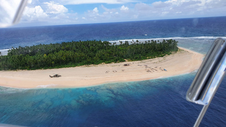'SOS' in the sand saves Pacific island mariners