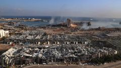Smoke rises from the scene of an explosion that hit the seaport of Beirut, Lebanon. Photo / AP