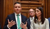 James Shaw with Jacinda Ardern. (Photo / NZ Herald)