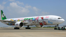 EVA Air introduces special flight to nowhere on a Hello Kitty plane