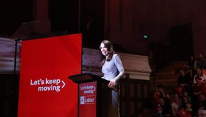Prime Minister Jacinda Ardern unveiled a $300m jobs package at the Labour Party campaign launch on Saturday at Auckland Town Hall. Photo / Sylvie Whinray