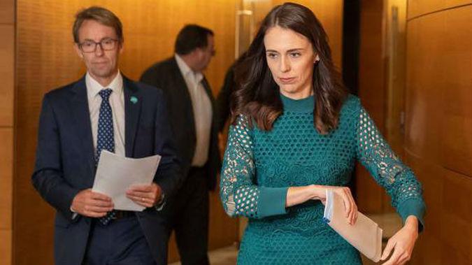 Ashley Bloomfield and Jacinda Ardern. (Photo / NZ Herald)