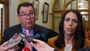 Grant Robertson and Jacinda Ardern. (Photo / File)