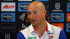 Nathan Brown talks to the media in 2019. Photo / Getty Images
