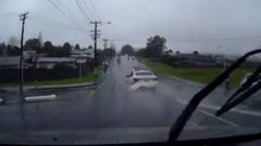Dash cam footage of police chase in West Auckland. Video / Manos K Sourris