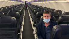The Wellington to Auckland flight with two passengers